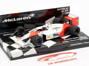 Alain Prost McLaren MP4/4 #11 Winner Brasilien GP Formel 1 1988 1:43 Minichamps