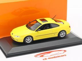 Peugeot 406 Coupe Bouwjaar 1997 geel 1:43 Minichamps