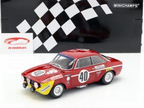 Alfa Romeo GTA 1300 Junior #40 vincitore Div.1 12h Paul Ricard 1971 1:18 Minichamps