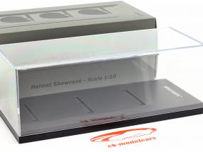 Acrylic Display case for helmets in scale 1:10 black Minichamps