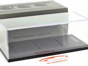 akryl udstillingsvindue til Hjelme i skala 1:10 sort Minichamps