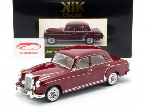 Mercedes-Benz 220 S sedan (W180II) Opførselsår 1956 mørk rød 1:18 KK-Scale