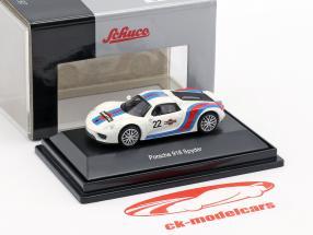 Porsche 918 Spyder #22 Martini Design weiß / blau / rot 1:87 Schuco