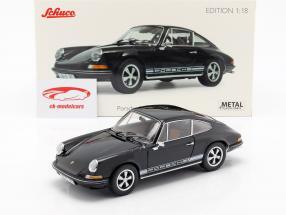 Porsche 911 S coupe Bouwjaar 1973 zwart 1:18 Schuco