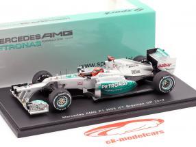 M. Schumacher Mercedes AMG W03 last Race GP Brasile formula 1 2012 1:43 Spark