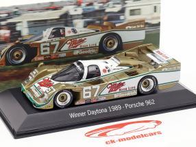 Porsche 962 #67 Winnaar 24h Daytona 1989 Wollek, Bell, Andretti 1:43 Spark
