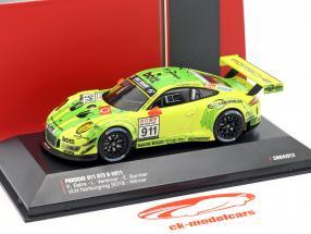 Porsche 911 (991) GT3 R #911 gagnant VLN 1 Nürburgring 2018 Manthey Grello 1:43 CMR