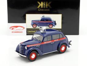Moskwitsch 400 polícia ano de construção 1946 azul escuro / vermelho 1:18 KK-Scale