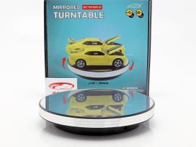 espelho plataforma giratória diâmetro 25 cm para carros modelo em escala 1:18 e 1:24 Triple9