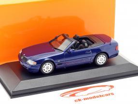 Mercedes-Benz SL year 1999 blue metallic 1:43 Minichamps