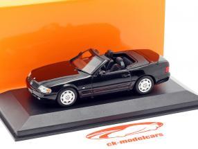 Mercedes-Benz SL año de construcción 1999 negro 1:43 Minichamps