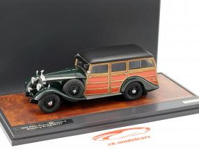 Rolls Royce Phantom II Shooting Brake 1930 mørkegrøn / træ-look 1:43 Matrix