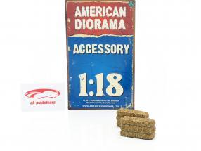 Hø Bale 2-er sæt 1:18 American Diorama