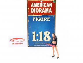 paraply pige figur I 1:18 American Diorama