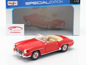Mercedes-Benz 190 SL Año 1955 rojo 1:18 Maisto