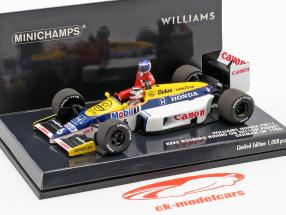 Rosberg riding on Piquet Williams FW11 #6 Duits GP F1 1986 1:43 Minichamps