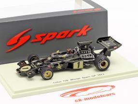 Emerson Fittipaldi Lotus 72E #1 vencedor espanhol GP fórmula 1 1973 1:43 Spark