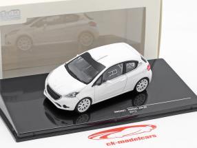 Peugeot 208 R2 Plain Body Version Baujahr 2013 weiß 1:43 Ixo