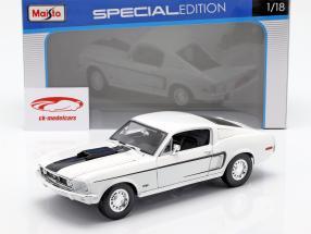 Ford Mustang GT Cobra Jet Baujahr 1968 weiß 1:18 Maisto