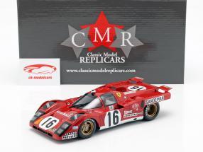Ferrari 512 M #16 4th Place 24h LeMans 1971 Craft, Weir 1:18 CMR