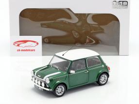 Mini Cooper 1.3i Sport Pack Bouwjaar 1997 groen / wit 1:18 Solido