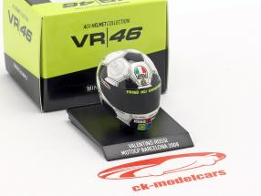 Valentino Rossi Barcelona GP campeão do mundo MotoGP 2008 AGV capacete 1:10 Minichamps