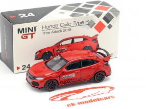 Honda Civic Type R (FK8) LHD Time Attack 2018 rot 1:64 TrueScale