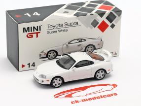 Toyota Supra (JZA80) LHD super wit 1:64 TrueScale