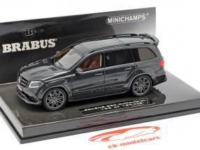 Brabus 850 Widestar XL gebaseerde op AMG GLS 63 Bouwjaar 2017 zwart metalen 1:43 Minichamps.