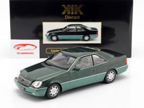 Mercedes-Benz 600 SEC (C140) Opførselsår 1992 grøn metallisk 1:18 KK-Scale