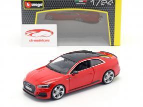 Audi RS 5 coupe red 1:24 Bburago