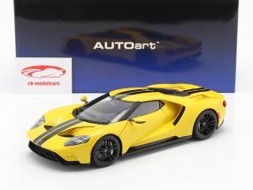Ford GT anno di costruzione 2017 triple giallo con nero strisce 1:18 AUTOart
