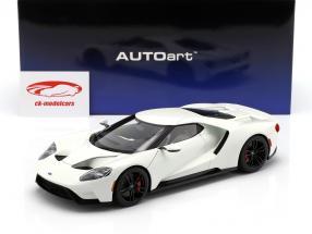 Ford GT Opførselsår 2017 frosne hvid 1:18 AUTOart