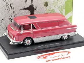 GMC L'Universelle transportador ano de construção 1955 vermelho metálico / prata 1:43 AutoCult