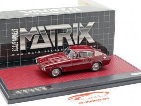 Aston Martin DB 2/4 Allemano Coupe Bouwjaar 1953 donker rood 1:43 Matrix