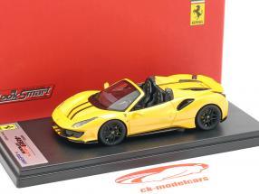 Ferrari 488 Pista Spider Bouwjaar 2018 tristrato geel 1:43 LookSmart