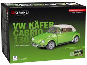 Volkswagen VW bille 1303 Cabriolet Opførselsår 1976 kit hugorm grøn 1:8 LeGrand