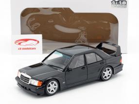 Mercedes-Benz 190E 2.5-16V Evolution II ano de construção 1990 preto 1:18 Solido