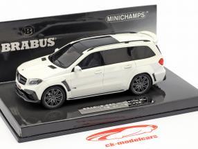 Brabus 850 Widestar XL gebaseerde op AMG GLS 63 2017 wit metalen 1:43 Minichamps