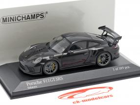 Porsche 911 (991 II) GT3 RS Opførselsår 2018 sort 1:43 Minichamps