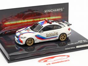 BMW M2 MotoGP Safety Car 2016 branco 1:43 Minichamps