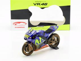 V. Rossi Yamaha YZR-M1 Dirty Version #46 MotoGP Malasia 2017 1:12 Minichamps