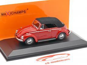 Volkswagen VW 1302 cabriolé año de construcción 1970 rojo 1:43 Minichamps