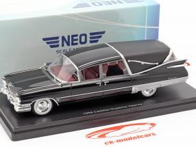 Cadillac Superior Crown Royale Landau corbillard 1959 noir 1:43 Neo