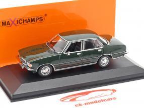 Opel Rekord D Opførselsår 1975 mørk grøn 1:43 Minichamps