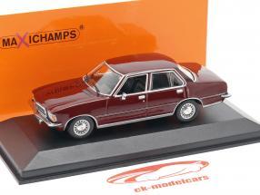 Opel Rekord D Opførselsår 1975 mørk rød 1:43 Minichamps