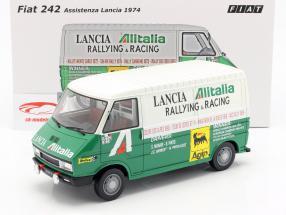 Fiat 242 van rali Assistance Lancia Team 1974 verde / branco 1:18 Laudoracing Models