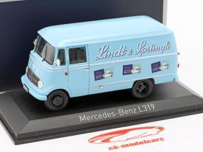 Mercedes-Benz L319 Lindt & Sprüngli año de construcción 1957 azul claro 1:43 Norev