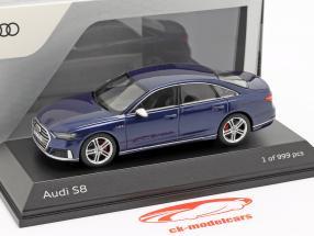 Audi S8 (D5) limousine year 2019 navarra blue metallic 1:43 Jada Toys