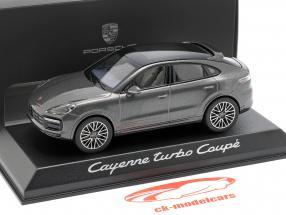 Porsche Cayenne Turbo coupé année de construction 2019 gris foncé métallique 1:43 Norev